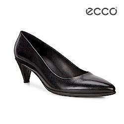 ECCO SHAPE 45 POINTY SLEEK 經典細跟尖頭跟鞋-黑