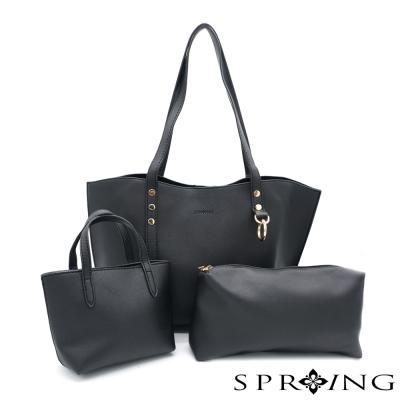 SPRING-elegance優雅女伶托特包三件組