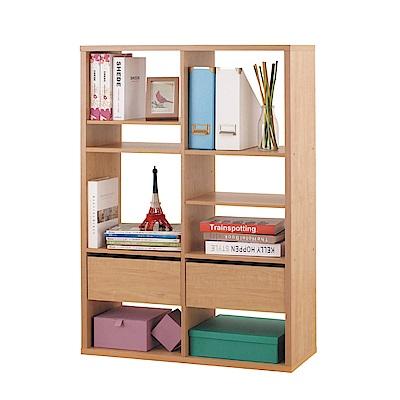 品家居 葛萊2.8尺橡木紋開放式書櫃-83.4x29x123.1cm免組