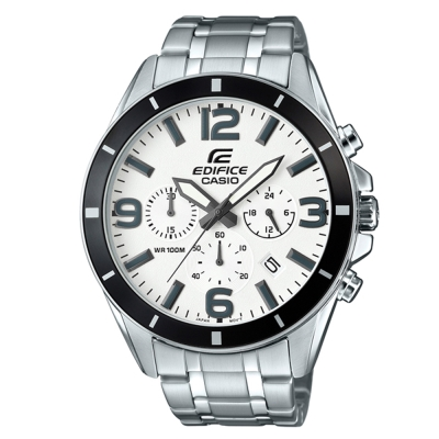 EDIFICE 都會時尚魅力落帥氣指針腕錶(EFR-553D-7B)白面/47mm