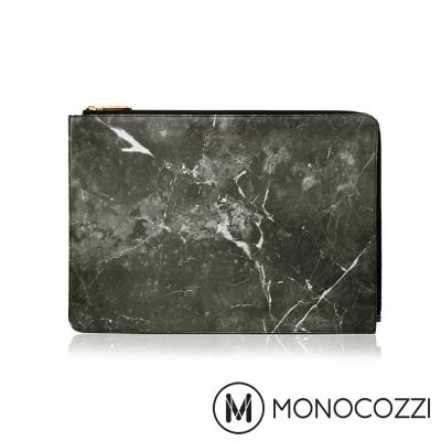 MONOCOZZI POSH MacBook Pro 13 吋專用皮革保護袋 - 大理石黑