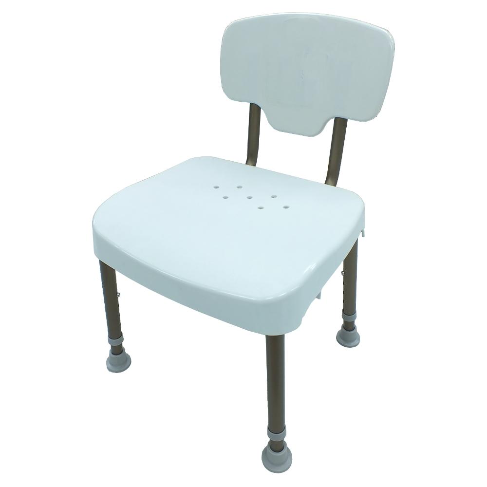 COLOR  荷重型鋁合金靠背洗澡椅(免工具組裝)
