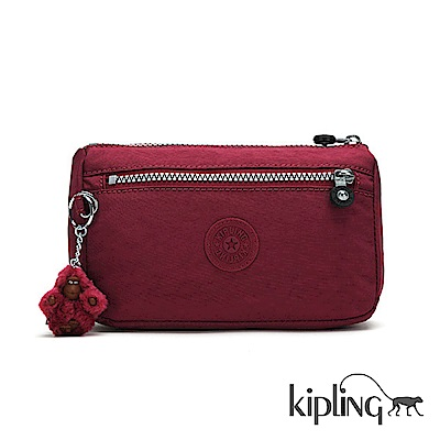 Kipling 零錢包 莓紫素面-小