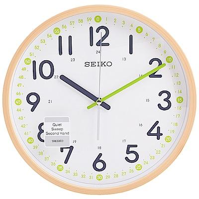 SEIKO-精工-簡約仿木紋外殼-滑動式秒針-靜音