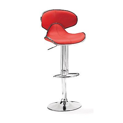品家居 藍布達皮革升降吧台椅(二色可選)-45x49x87.5cm免組
