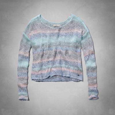 AF a&f Abercrombie & Fitch 女 長袖 T恤 藍 0321