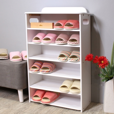 Asllie六層收納鞋櫃(白色)/置物櫃/收納櫃-55x27x86cm