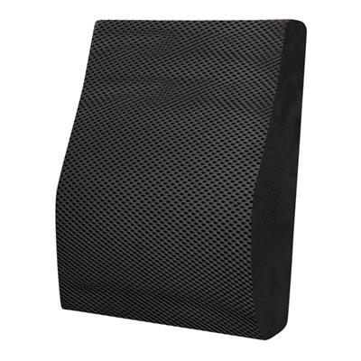 源之氣 竹炭記憶透氣腰靠墊(黑) RM-9444-1