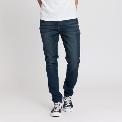 Hang Ten - 男裝 - 簡約刷色窄管牛仔褲 - 深藍