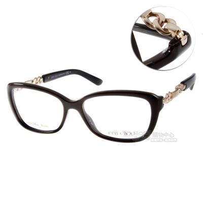 Jimmy Choo眼鏡 經典環扣系列/時尚黑#JC79 QFE