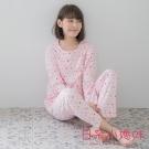 日系小媽咪孕婦裝-韓製哺乳衣~繽紛圓點圖案套裝 L-XL (共二色)
