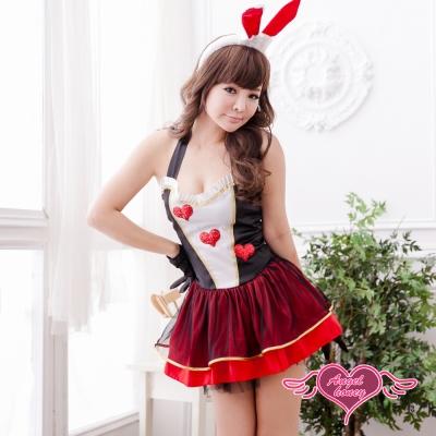 角色扮演 奇幻夢遊 兔女郎 童話角色表演服(紅黑F) AngelHoney天使霓裳