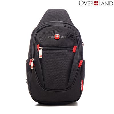 OVERLAND-美式十字軍x經典防潑水立體版型胸肩包