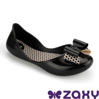 Zaxy 巴西 女童 START BOW II休閒娃娃鞋(黑)
