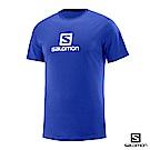 Salomon 男 COTON LOGO 短袖T恤 海洋藍