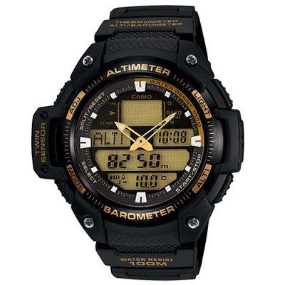 CASIO 新機能戶外雙顯運動錶-黑圈/51.9mm