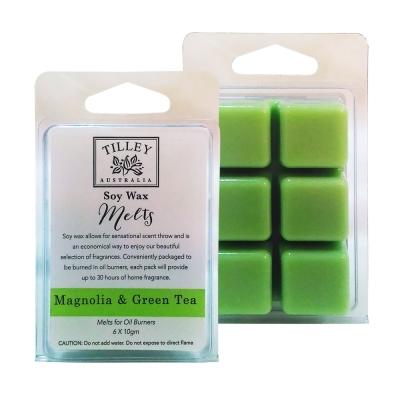 Tilley百年特莉 木蘭花&綠茶香氛大豆蠟60gx2盒組(方形)