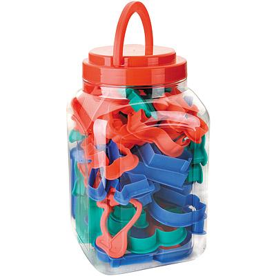 IBILI桶裝餅乾模40件動物交通
