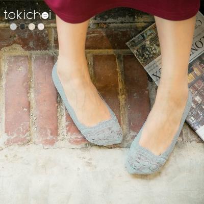 東京著衣 多色蕾絲花邊透氣防滑隱形襪(共四色)