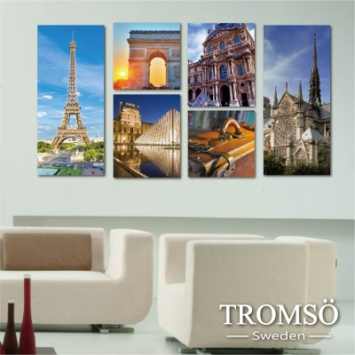TROMSO時尚無框畫-浪漫巴黎 (6件1幅)