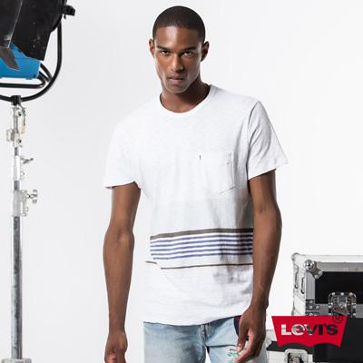 Levis-COOL-JEANS-男款亞麻棉短袖T恤