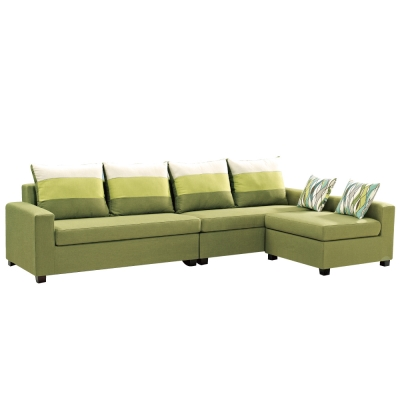 L型沙發 夏歐布面獨立筒沙發 多色選  品家居