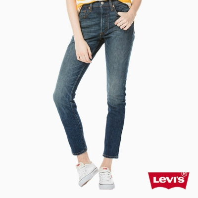 Levis 女款 501 Skinny 高腰排釦牛仔長褲 經典款