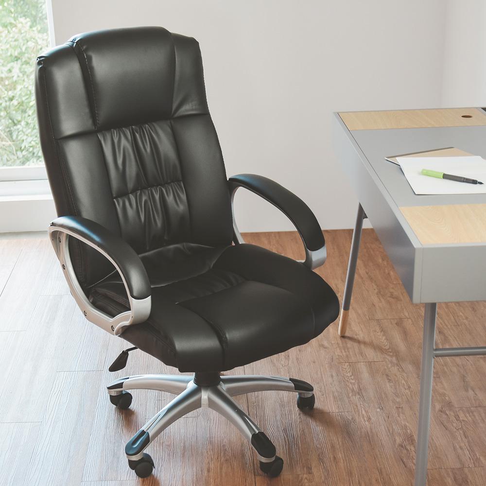Home Feeling 電腦椅/主管椅/總裁椅/皮革-60x60x117cm