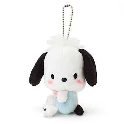 Sanrio 帕恰狗害羞臉紅紅側坐玩偶吊鍊