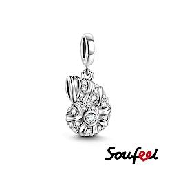 SOUFEEL索菲爾 925純銀珠飾 海螺 吊飾
