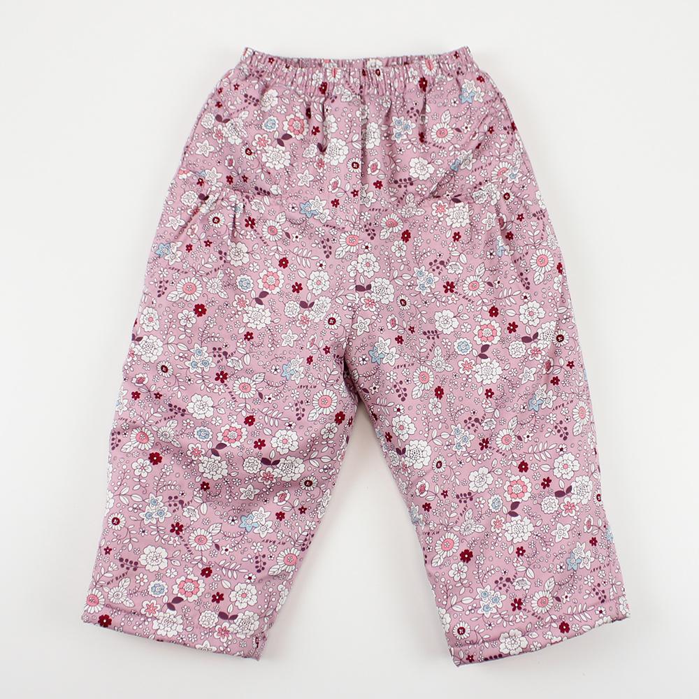 愛的世界 MYBABY 小兔花園舖棉磨毛長褲 2-3歲