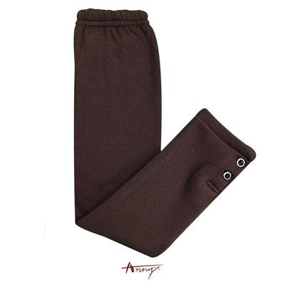 Annys素面鈕扣舒適保暖厚內搭襪褲*5660咖啡