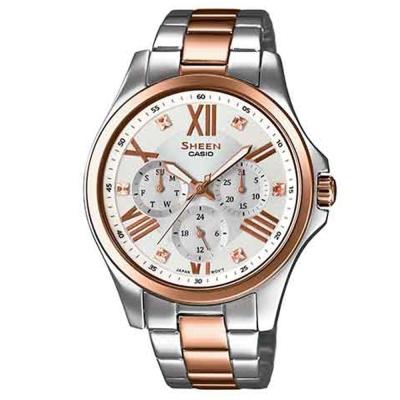 SHEEN 羅馬時刻SWAROVSKI 腕錶(SHE-3806SPG-7)-玫瑰金/39.3mm