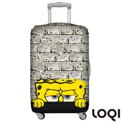 LOQI 行李箱套│海綿寶寶漫畫L號 適用28吋以上行李箱保護套