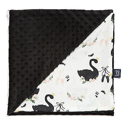 La Millou 單面巧柔豆豆毯嬰兒毯寶寶被毯 芭蕾舞天鵝(法蘭黑炫風)
