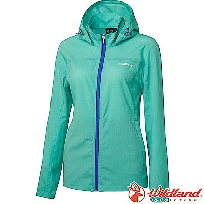 Wildland 荒野 0A61905-67湖水綠 女可溶紗環保透氣外套