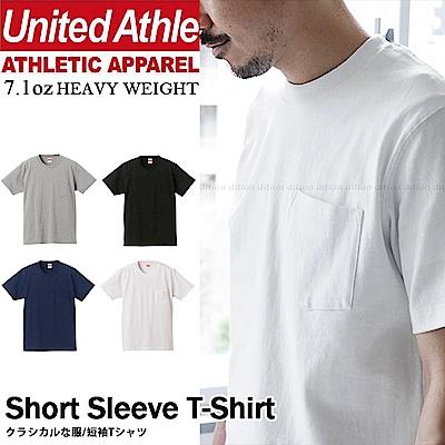 日本United Athle厚磅口袋短T 經典7.1oz不露點 不透膚