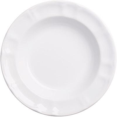 EXCELSA Chic陶製深餐盤(白22cm)