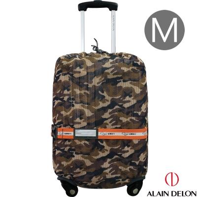 ALAIN DELON 彈性網狀旅行箱保護套M(迷咖)