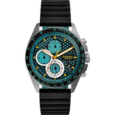 FOSSIL Sport 54 爆裂計時腕錶-綠x黑/42mm