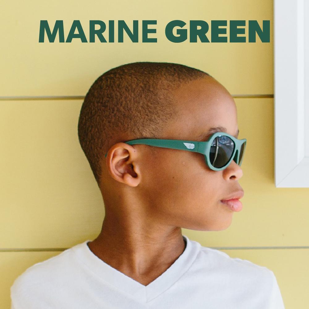 美國BABIATORS 嬰幼兒墨鏡 -軍隊綠