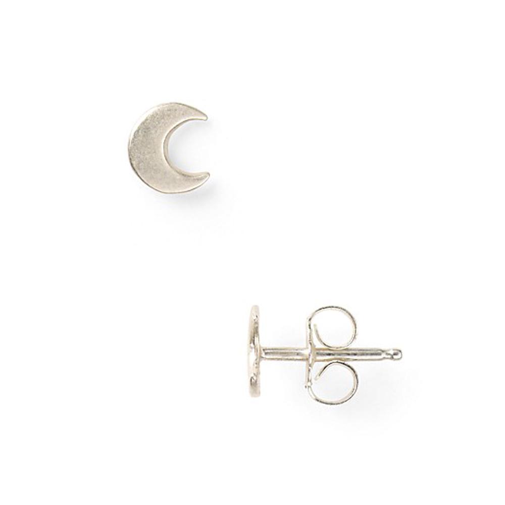 Dogeared 月亮 Moon Glow 銀色耳環 附原廠盒