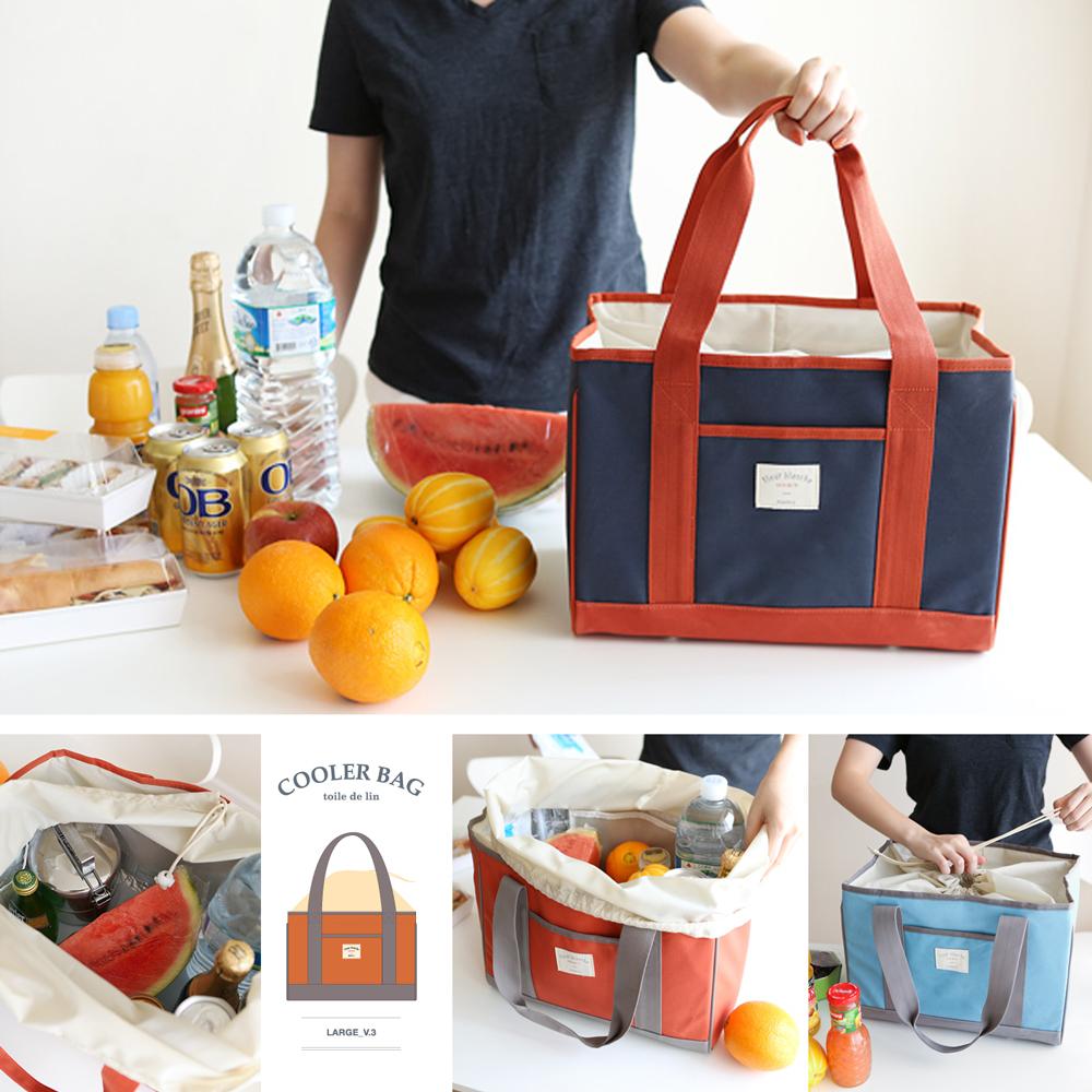 【韓國 invite.L】L號 保冷袋 保溫袋 保鮮袋 餐盒袋 便當袋 手提包