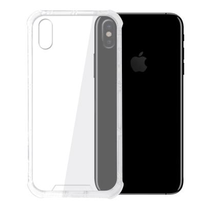 【SHOWHAN】 iPhone X 四角強化TPU矽膠+PC背板空壓手機殼