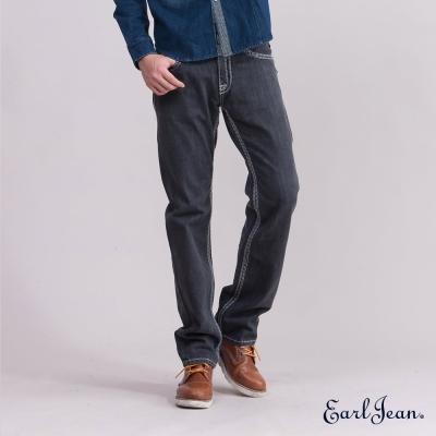 Earl Jean粗車線合身窄管單寧褲-黑灰