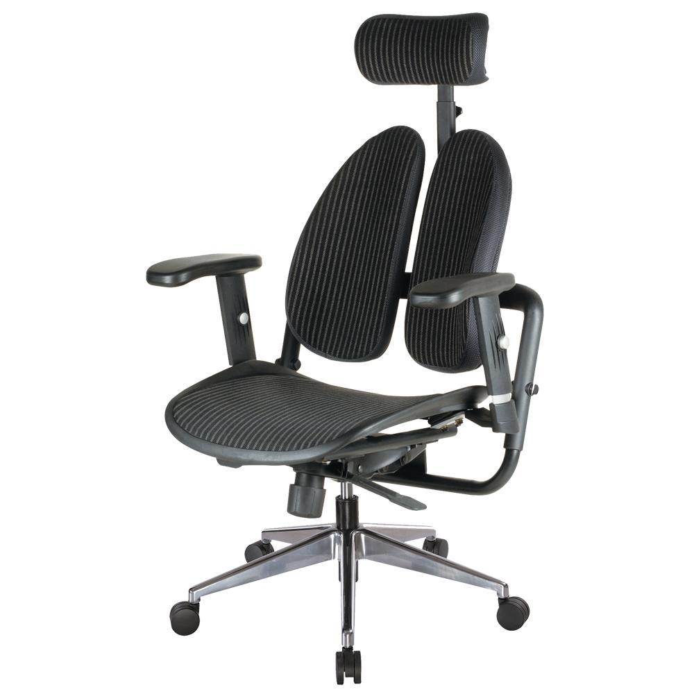 Boden-德國專利雙背多機能網布電腦椅(背墊加厚款)-70x70x114~123cm