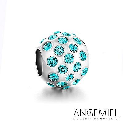 Angemiel安婕米 925純銀 固定珠 晶耀(藍)