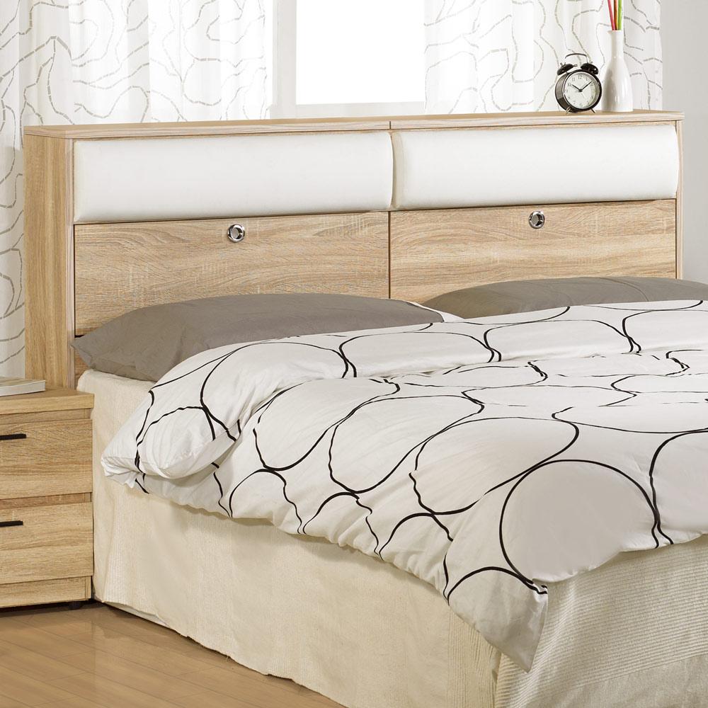 居家生活 爾康5尺橡木紋雙人床頭箱
