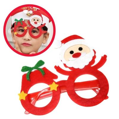 摩達客 派對造型眼鏡-DIY聖誕老公公星星紅圓框