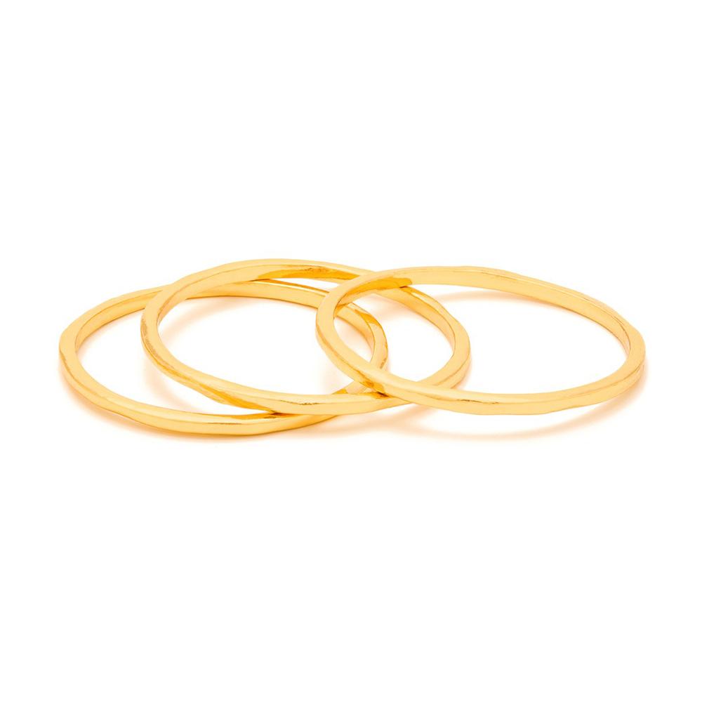 GORJANA G RING 金色三環戒 經典款 細版 線戒 可分開配戴
